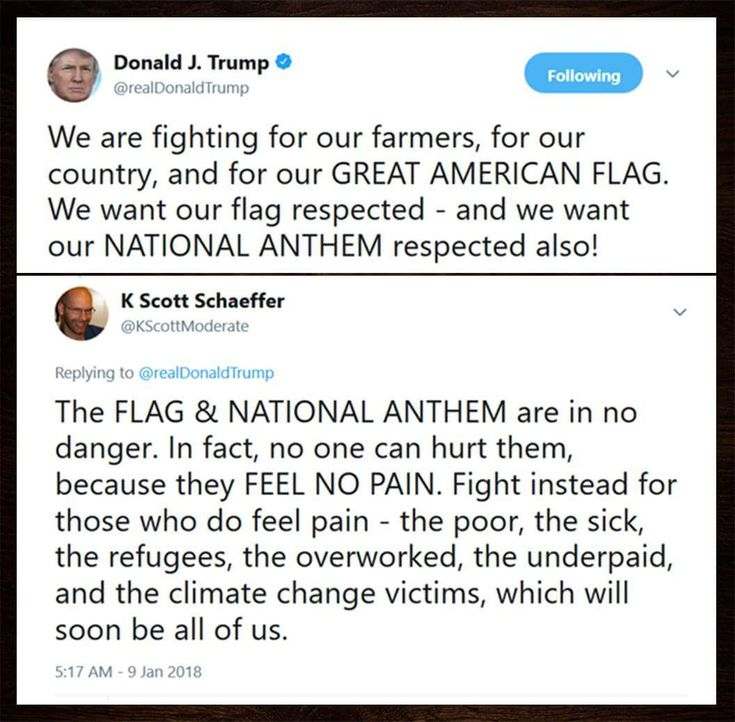 Also, you, Mr. Trump, make more and more people lose any respect for your precious flag.