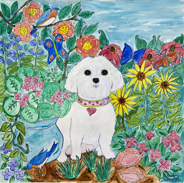 Oh...look at the sweety.  There's no friend like a good dog, don't you know.  More info at http://www.DeborahCavenaugh.com