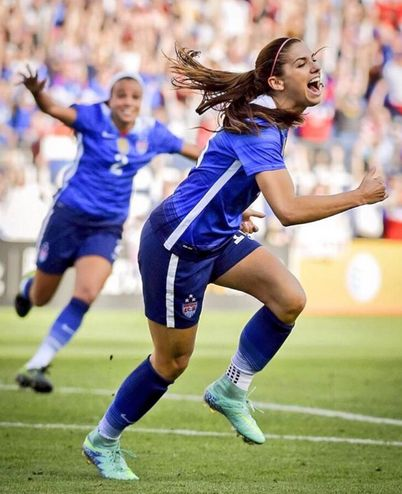 Mallory Pugh and Alex Morgan. (Instagram)  Two women off of the French's womens soccer team.  Soccer is one of Fracne's main sports