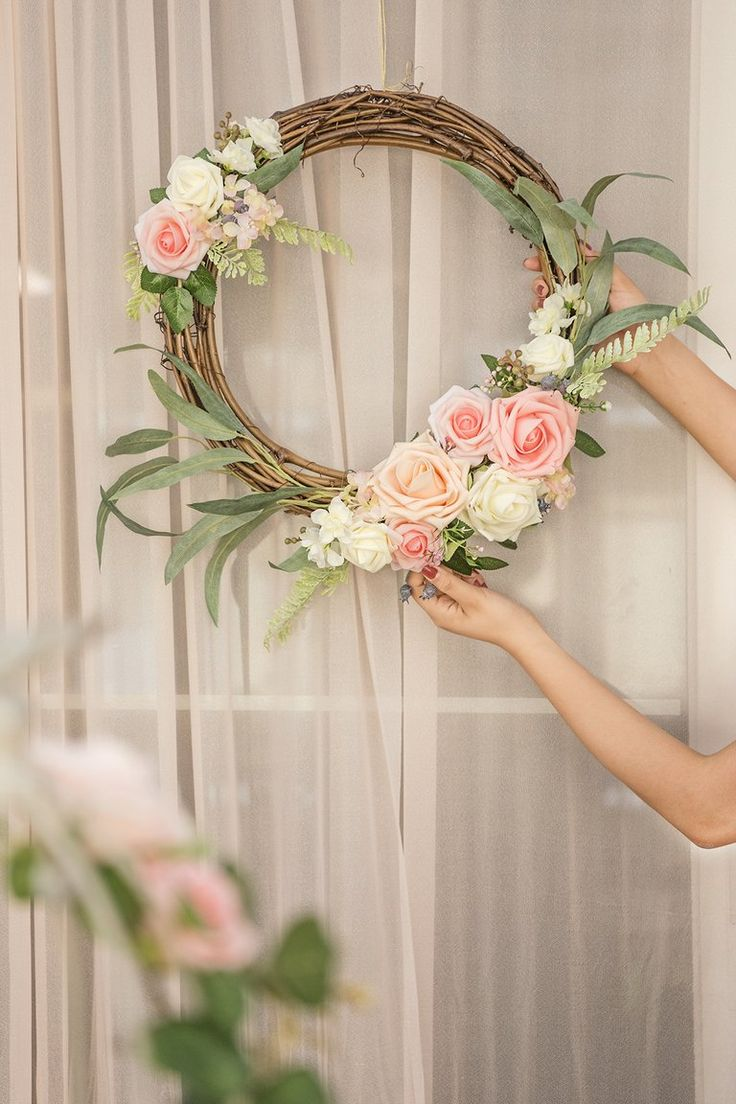 Artificial Flower Arrangements for DIY Floral Wreath Set of 2