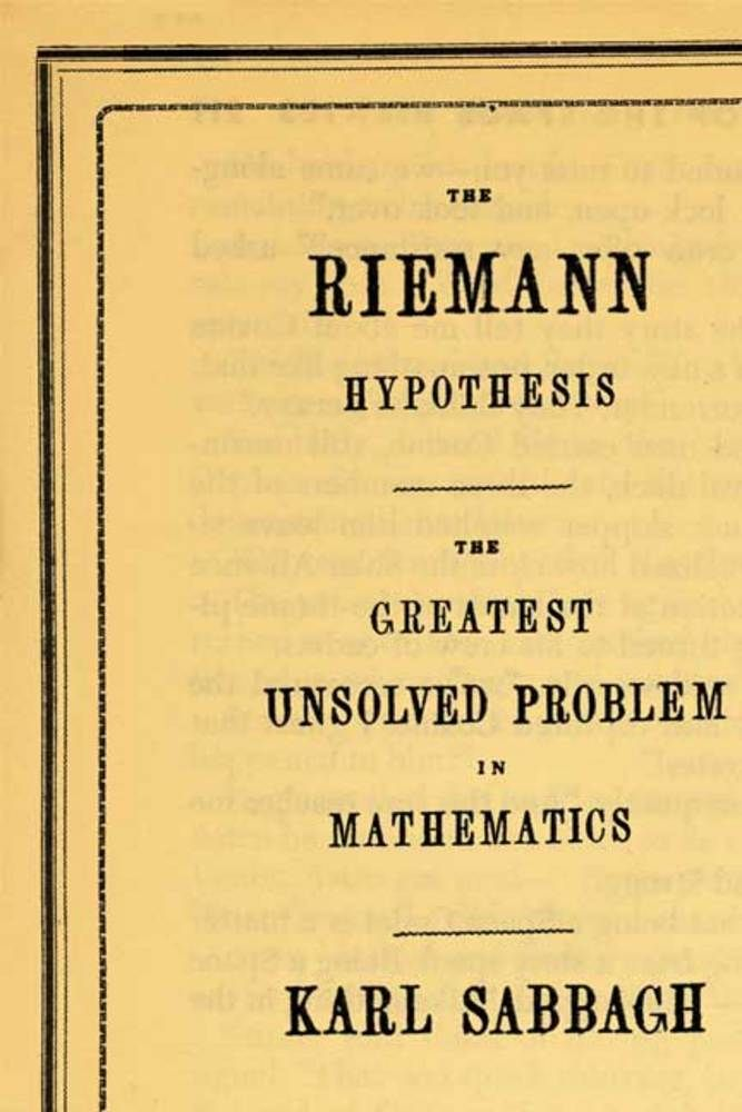 riemann hyphothesis Problems of the millennium: the riemann hypothesis e bombieri i the problem theriemannzetafunctionisthefunctionofthecomplex variable s,definedinthehalf-plane1 (s)1bytheabsolutelyconvergentseries.