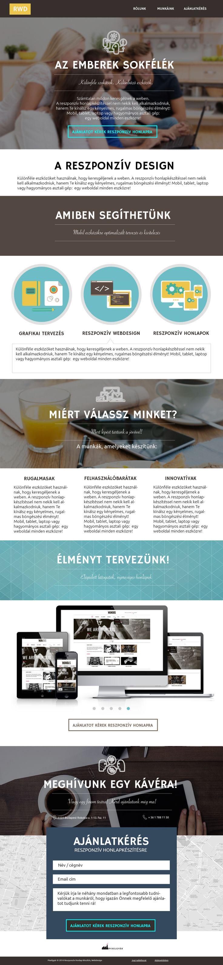 Responsive.hu Reszponzív webdesign, mobilra optimalizált honlapok - http://responsive.hu