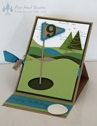 Handmade Golf Cards | hand made golf card - Google Search