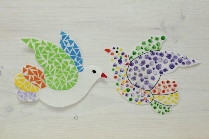 Las palomas representan el Día Internacional de la paz. En este tutorial hemos recreado esta manualidad que nos servirá para decorar cualquier mural.