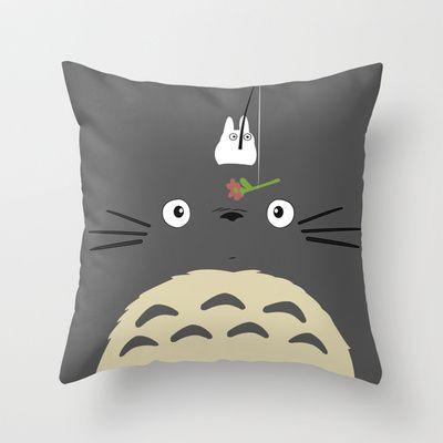 Cute Totoro Throw Pillow