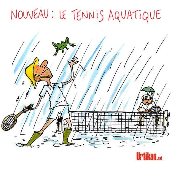 Roland-Garros : les conséquences d'une pluie battante sur la terre battue - Dessin du jour - Urtikan.net