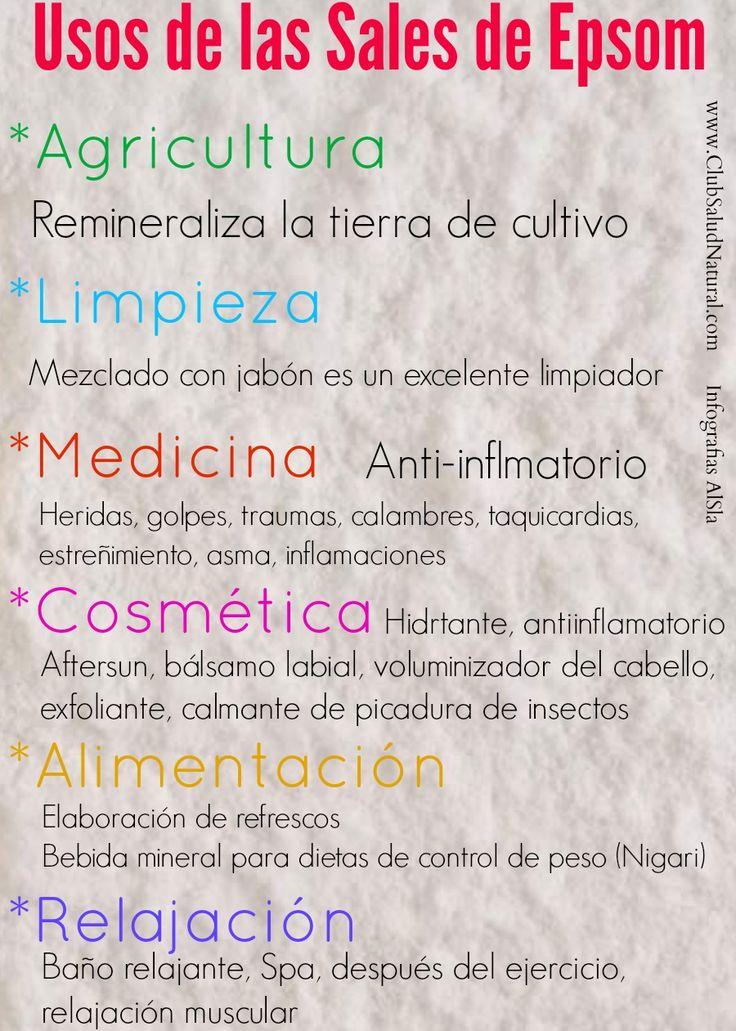 Usos de las Sales de Epsom - Club Salud Natural #salesdeepson