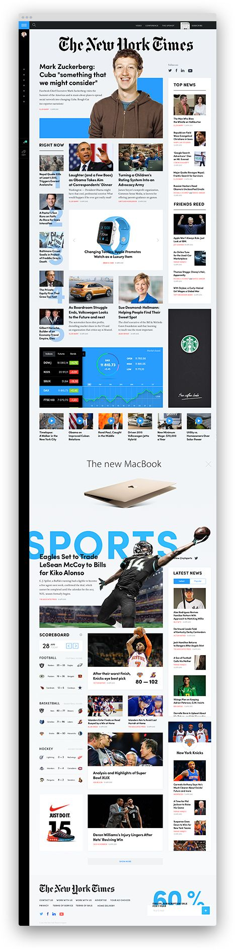 NYTimes Design Concept: Busy Day Grid / Tema Troinoi