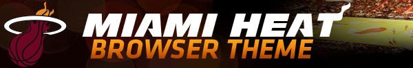 Miami HEAT Browser Theme