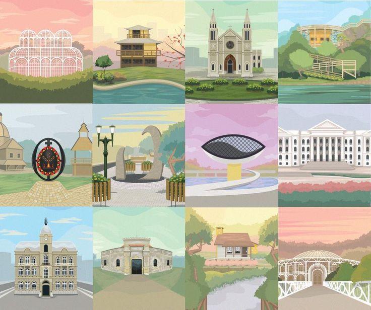 O artista Maycon Prasniewskidesenvolveu uma série ilustrada de posters sobre pontos históricose culturaisde Curitiba. Importantes edifícios da...