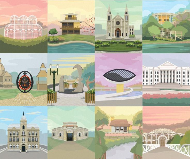 These Colorful Illustrations Bring Curitiba's Landmarks to Life