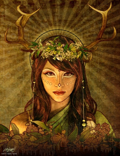 Fauna's themes are fertility, nature and divination. Her symbols are all forest items.  In Roman mythology, Fauna is the consort to Faunus, whom this date venerates. With Faunus, She protects the woodlands and plants that live there. While Her role in stories seems minor, Fauna's power lives on in botanical terminology, Her name having been given to vegetation