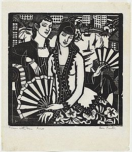 Women with fans (1930) - Thea Proctor