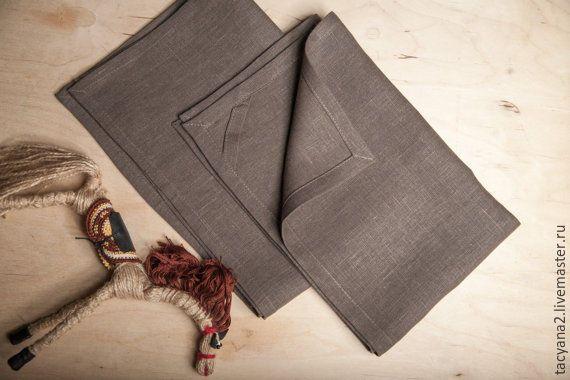 linen towels  Льняной фартук и 2 полотенца - оливковый, фартук, передник, одежда из льна, льняной