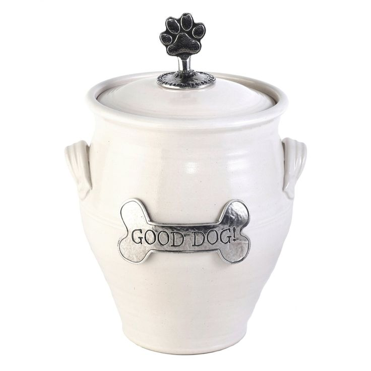 Pet Supplies : Oregon Stoneware Studio Dog Treat Jar, Small, Slate : Amazon.com