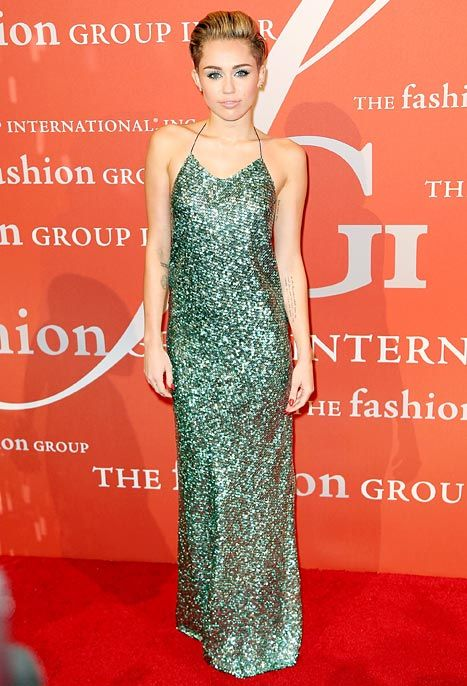 Miley Cyrus wears an elegant Marc Jacobs gown at the 30th Annual Night of Stars event on Oct. 22, 2013.