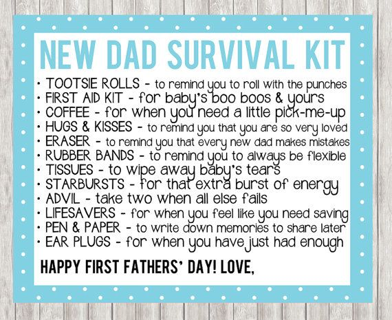 First Father S Day New Dad Survival Kit In By