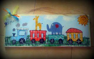 παιδικό καδράκι με όνομα, kids room decoration