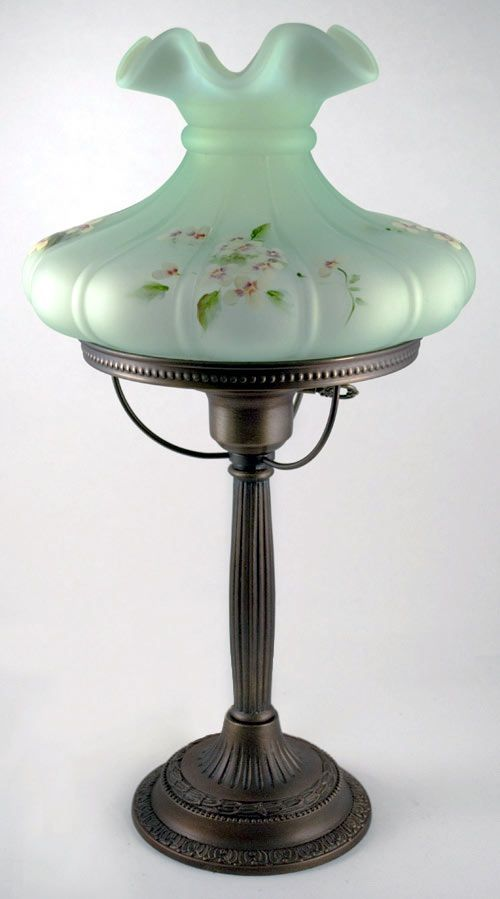 Green Lamp Painting : Best images about vintage fenton lamp on pinterest