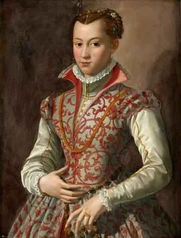 A Young Woman, said to be Isabella de Medici, ca. 1565 (attributed to Agnolo Bronzino) (1503-1572)  Bukowskis Auktioner Stockholm