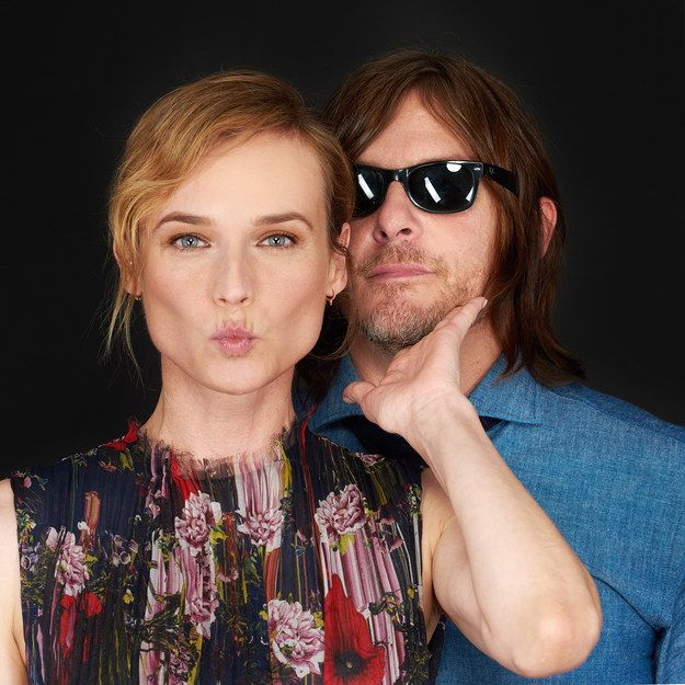 "Norman Reedus And Diane Kruger Get Real In A Game Of ""Never Have I Ever"""