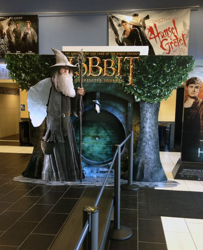 The Hobbit standee