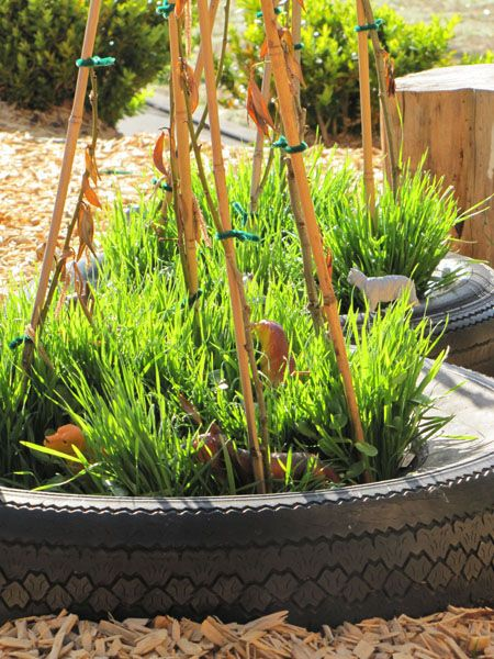 child-created gardens = great places to play respectively. (Play based learning, good blog with links to more good blogs)
