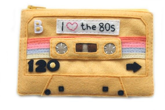 Special Edition Mixtape Pouch  I Love the 80s by BraveMoonman