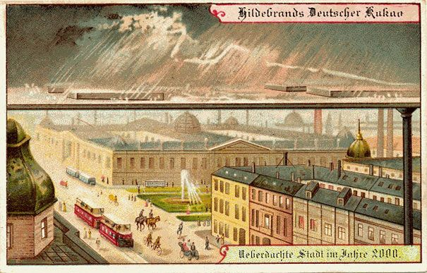 Them, 1900: Roofed cities // Us, 2013: Shopping centres, leisure centres and entertainment complexes // From BoredPanda