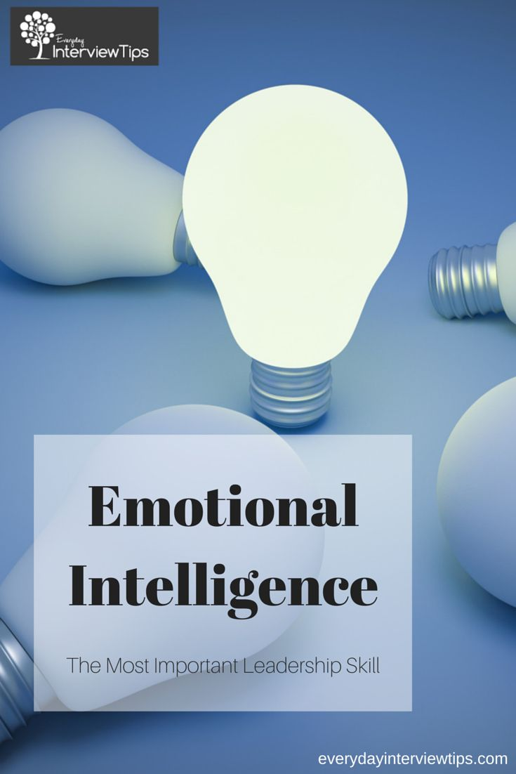 Emotional Intelligence & Leadershiphttp://www.everydayinterviewtips.com/emotional-intelligence-the-most-important-leadership-skill/