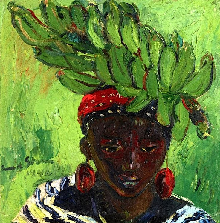 Banana Carrier Irma Stern - 1946