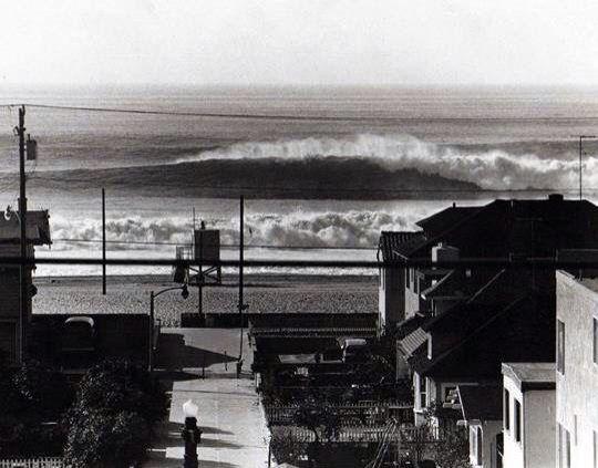 Huge Swells January 1969 Hermosa Beach California