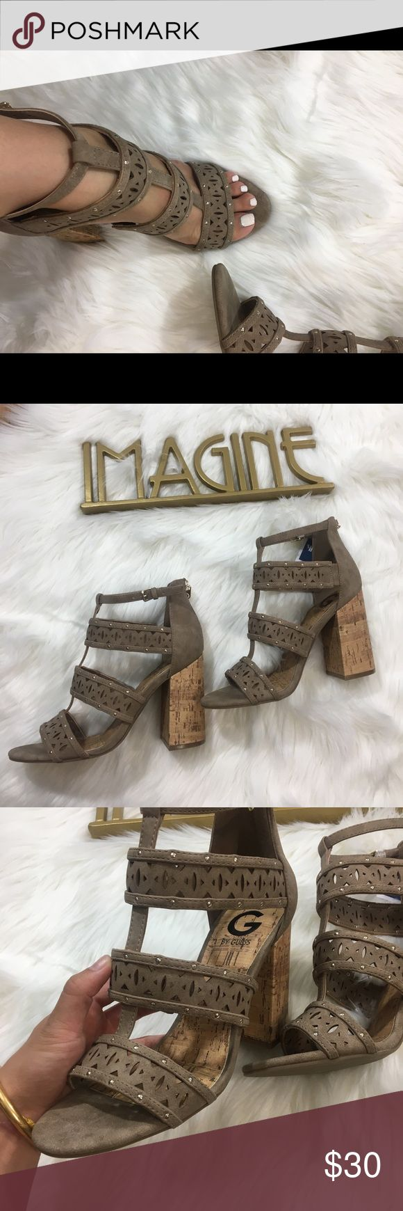 Guess Tan Chunk Cork Heels SIZE 9 NWT✨💓✨ Tan Chunky Heel Guess shoe perfect color for fall with a jean jacket! Dress up or down✨✨💓✨💓✨✨ SIZE 9 NEW WITH TAGS Guess Shoes Heels