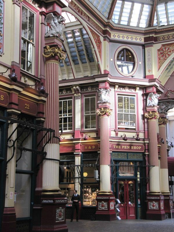 Leadenhall Market, London, UK - Designed by Sir Horace Jones, an early member of The Artists Rifles.