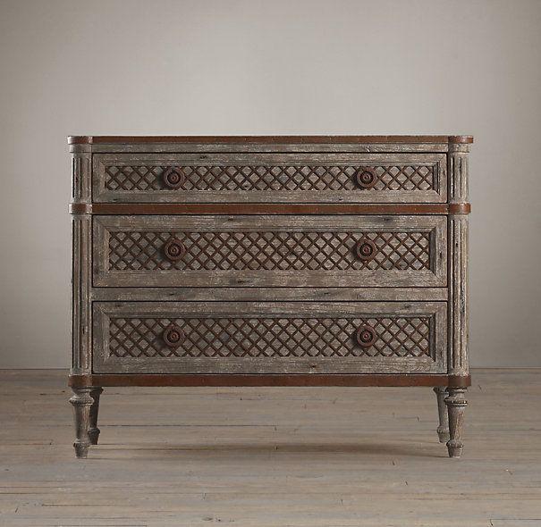 Restoration Hardware Louis Xvi Dresser: Louis XVI Treillage Nightstand