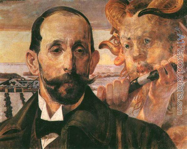 Jacek Malczewski (Polish 1854–1929) [Young Poland (Mloda Polska), Symbolism] One Song.