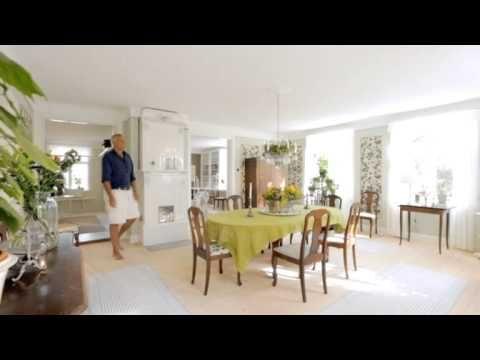 Entréhallen, övervåningen, matsalen och bibliotekets förvandling - Sommar med Ernst (TV4) - YouTube