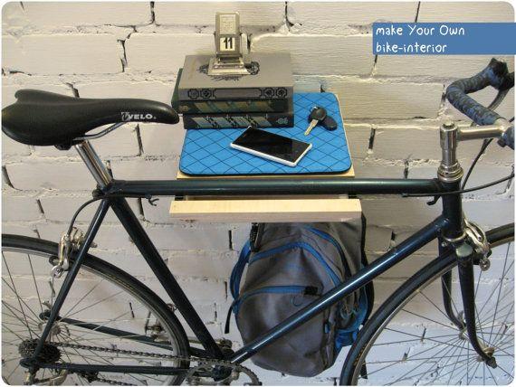 Estante de bicicletas por BikeWoodHome en Etsy