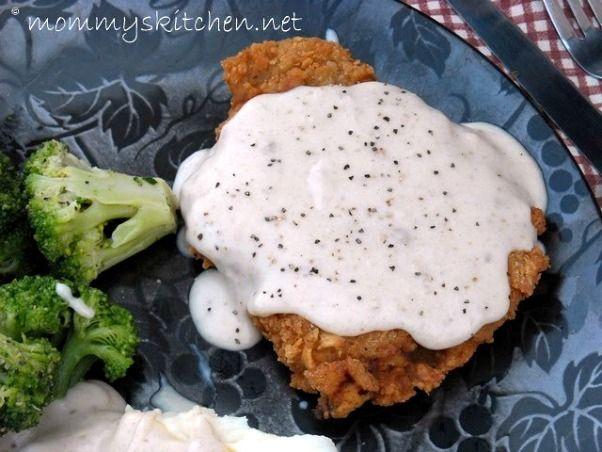 Chicken Fried Steak W/ Cream Gravy & Mr. Walmart Man