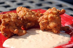 LouLou Sucre: Crawfish Beignets with Spicy Remoulade Sauce