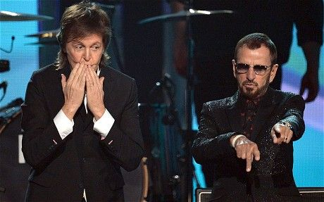 Grammys 2014: Beatles Paul McCartney and Ringo reunite on stage - Telegraph