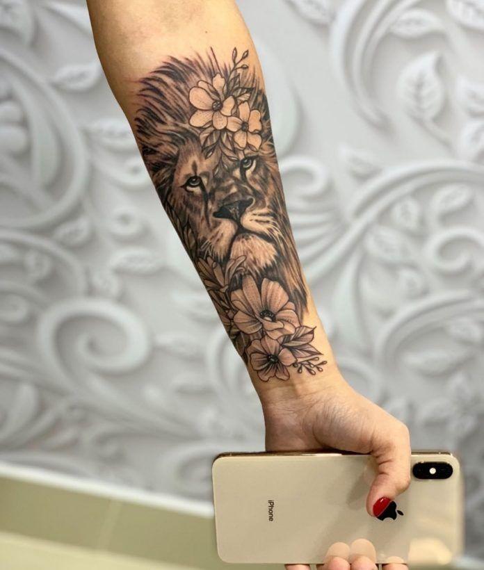 11++ Tatouage lion bras femme ideas
