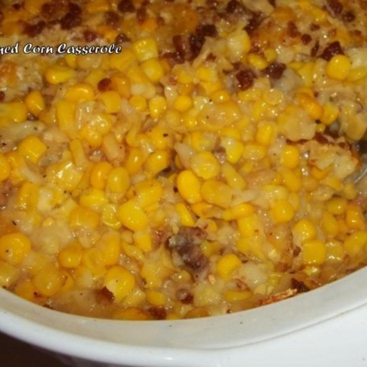 Amish Creamed Corn Casserole