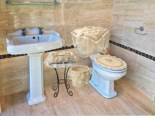 gold toilet seat cover. Eden Lace Bathroom Waste Bin  Tank Cover Seat Tissue Box 133 best Toilet seat images on Pinterest Toilets seats