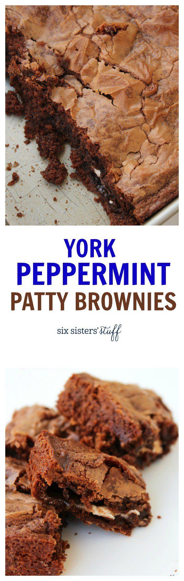 York Peppermint Patty Brownies Recipe/Six Sisters' Stuff | Six Sisters' Stuff