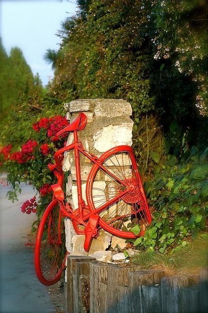 A red #Bike in Palos Verdes, #California