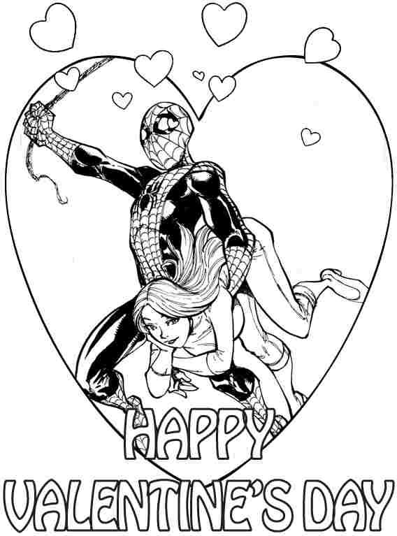 spiderman valentines day free printable superhero valentines day coloring pages for kids