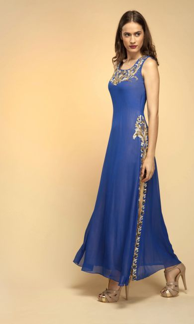 Indo Western Gowns - Exclusive Designer Gowns that Exude Class by Vemanya