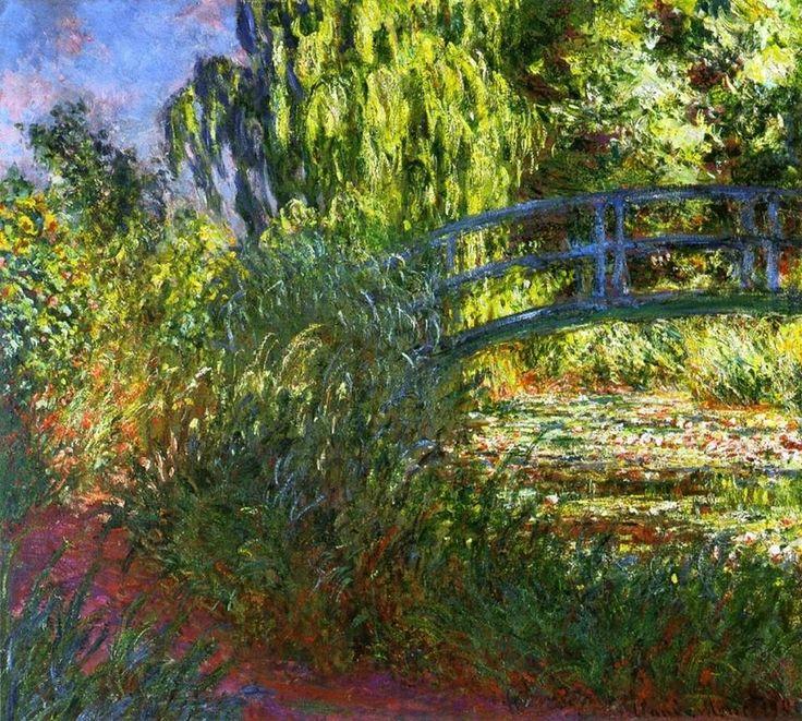"""Claude Monet """"Stagno delle ninfee e sentiero vicino all'acqua"""" (1900) """"Waterlily Pond and Path by the Water"""""""
