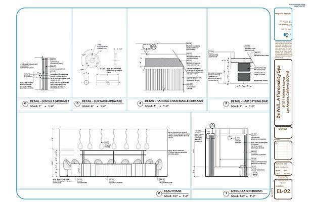 El 02 interior elevations details interior sections for Interior designs xword